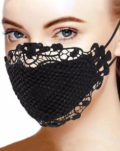 Crochet Mask, Crochet Pouch, Lace Mask, Protective Mask, Halloween Skull, Victorian Halloween, Halloween Face Mask, Masks For Sale, Mouth Mask