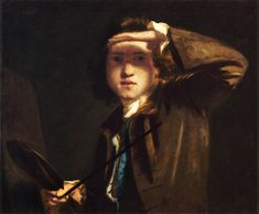 J REYNOLDS, Autorretrato, 1747-49, National Portrait Gallery, Londres