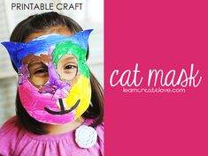 { Cat Mask Craft with Printable }