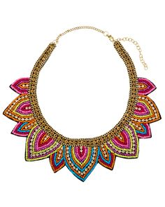 Spotted this Stella & Ruby 14K Plated Resin & Crystal Bib Necklace on Rue La La. Shop (quickly!).