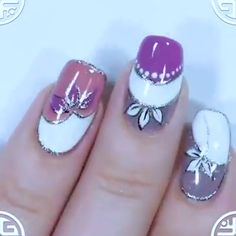 Beautiful and easy nail art. Easy Nail Art, Beautiful Nail Art, Beauty Nails, Hair And Nails, Nail Art Designs, Make Up, Accessories, Inspiration, Clothes
