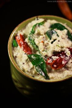 Coconut Chutney - is one of the most ubiquitous side dishes, in all of south india. Idli, dosa or vada, any savoury snacks is generally accompanied by coconut chutney.