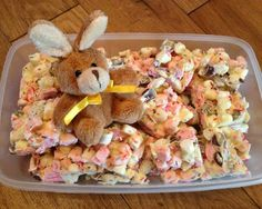 Foodie Quine - Easter Bark White Chocolate and Marshmallow and Mini Egg Easter No Bake Tray Bake