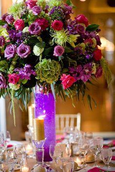 Green and Purple Floral Arrangement