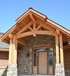 Can't get enough of timber frames and stone.