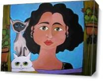 Diva And Gatos As Canvas