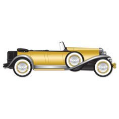 4 FEET! Jointed Roaring 20's Roadster Cardboard Cutout Birthday Party Decoration #Beistle