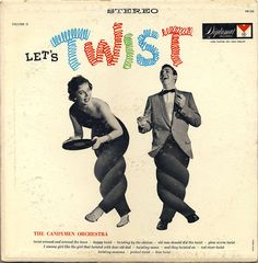 Let's twist - vintage record cover