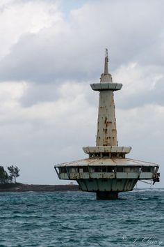 Abandoned Observation Tower at Coral Island Nassau, Bahamas