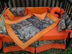New brown real tree CAMOUFLAGE baby crib by alexiskleegrandma,I want to do regular camo then trim it all out with orange. I am sure many country couples would like this for their babies
