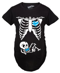 Maternity Baby Boy Skeleton Cute Pregnancy Bump Tshirt (Black) sold by Crazy Dog T-shirts. Shop more products from Crazy Dog T-shirts on Storenvy, the home of independent small businesses all over the world. Halloween Pregnancy Shirt, Funny Pregnancy Shirts, Pregnant Halloween, Funny Shirts For Men, Cute Halloween, Halloween Costumes, Pregnancy Announcement Gifts, Pregnancy Bump, Pregnancy Info