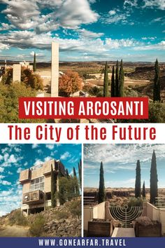 Paolo Soleri started the building of Arcosanti in the 1970s as an experiment to show the world of a more sustainable, frugal, and community-centric type of society. Stop at Arcosanti during a cross-country road trip or an Arizona Weekend Getaway from Phoenix | Arizona travel | Arizona photography | Phoenix Travel | Sedona Travel | Arcosanti AZ | USA Road Trip | Arizona Travel Itinerary | Arizona Travel Guide | Arizona Travel Tips | Arizona Aesthetic | #arizonatravel #arcosanti #arizona Usa Travel, Road Trip Photography, Road Trip Essentials, Arizona Travel, Phoenix Arizona, Road Trip Usa, Stay The Night, Cross Country, The Great Outdoors