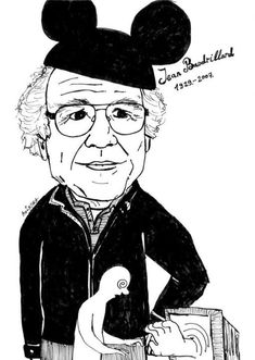 Jean Baudrillard (1929-2007) was a French sociologist, whose work is frequently associated with Postmodernism and Poststructuralism. He wrote on a diverse range of topics, but one major theme at least seems to be the way technology impacts social change. His published work emerged in tandem with the work of a generation of French poststructuralist thinkers, including Gilles Deleuze, Jean-François Lyotard, Michel Foucault, Jacques Derrida, and Jacques Lacan.