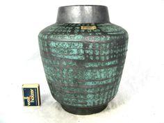 """60´s design CARSTENS """" Ankara variation """" pattern Keramik Vase 1236 - 23"""