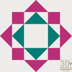 Piece N Quilt: How to: Bryan's Star Quilt Block - 30 Days of Sewing Quilt Blocks - Star Version