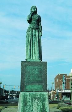On March The City Of Moss Norway Commissioned Norwegian Lady A Bronze Replica Original Figurehead Which Stands At Virginia Beach