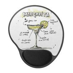 Margarita Drink Recipe Design Gel Mouse Pad