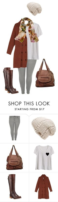 """""""Simplicity+Fuctionality"""" by lydia-elmore ❤ liked on Polyvore featuring River Island, The North Face, Jérôme Dreyfuss, LC Trendz, Timberland, Melissa McCarthy Seven7, Bindya and plus size clothing"""