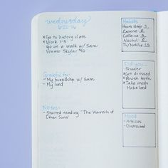 If you tend to slip into all-or-nothing thinking, tracking your habits on your daily spread instead of a monthly one can help a LOT. With a daily tracker, you start every day with a totally clean slate. 'That way, you don't wind up two weeks in avoiding the monthly habit tracker because you don't want to stare at how you messed up a week ago and give up all together,' says Bonior.