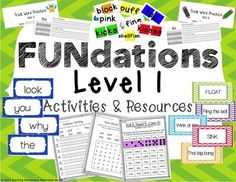 WOW! Does your school use FUNdations?? If so, you HAVE to check out this resource!  Included:  - 13 trick word practice books for ALL 13 units  - 100 Candy Land cards for Units 1-7: CVC words, words with digraphs, bonus letters, glued sounds, and suffix 's' - 100 Candy Land cards for Units 8-14: CVC words, CVCe words, multisyllabic words, consonant blends, and suffix 'es', 'ed', and 'ing'.  - SINK or FLOAT! - Phrase Cards/Game for Unit 7 - Trick Word Cards for all Units -Activity Sheets