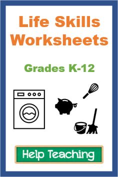 Life skills worksheets help kids and teens learn and refresh their memories of cooking and cleaning skills, personal hygiene, health and safety, money management, organization, and more. #specialeducation #lifeskills School Worksheets, Free Printable Worksheets, Life Skills Class, Personal Hygiene, Help Teaching, Help Kids, High School Students, Health And Safety, Money Management