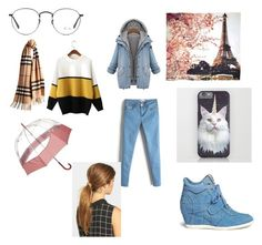 Denim style by shaniamelville-1 on Polyvore featuring Ash, Fay et Fille, Ficcare, Burberry, Hunter and Ray-Ban
