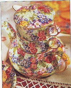 Floral - Royal Winton stacking teapot