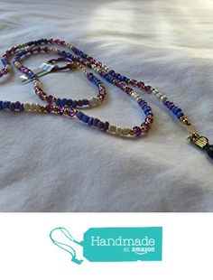 Purple White and Gold Beaded Eyeglass Chain from Southern Women Crafts https://www.amazon.com/dp/B01N97MTC9/ref=hnd_sw_r_pi_dp_Ap5oyb4VXEH4Z #handmadeatamazon