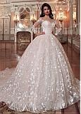 Details about Luxurious Lace Illusion Wedding Gowns 2019 Ball Gown Bridal Dresses Long Sleeve Wedding dresses Gorgeous Wedding Dress, Best Wedding Dresses, Cheap Wedding Dress, Bridal Dresses, Gown Wedding, Lace Wedding, Wedding Bride, Modest Wedding, Casual Wedding