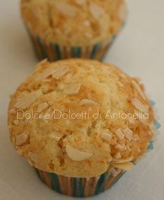 muffin cioccolato bianco e mandorle dolci e dolcetti di antonella