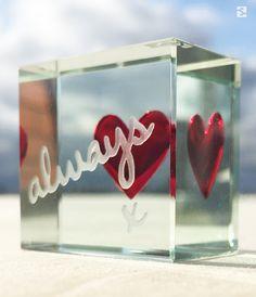 """Always"" Heart Token,  Love Gift by Spaceform."