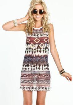 Sheer Tribal Dress