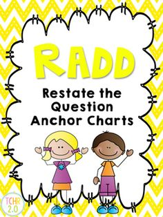 Have you been looking for a new strategy to use to get your students to answer comprehension questions in complete sentences? If so, this strategy might be for you! It's R.A.D.D.!