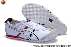 Asics Onitsuka Tiger Mexico 66 Mens Black White Red Basketball Shoes Store