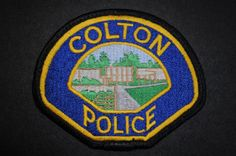 Colton Police Patch, San Bernardino County, California (Vintage 1987-2001 Issue)