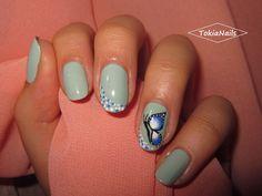 Butterfly #butterfly #nailart #naturalnails #mynails #nailpolish #TokiaNails