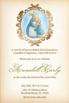 Peter Rabbit Baby Shower Invitations