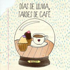 días de lluvia: tardes de café *