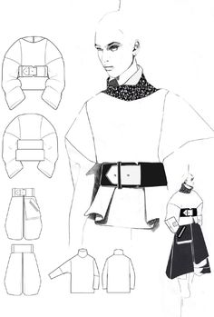 Fashion Sketchbook - fashion illustrations; fashion design portfolio layout // Andrew Voss