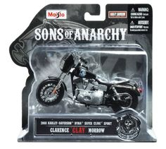 Maisto 118 Scale Sons of Anarchy 2008 HD Dyna Superglide Sport Clarence Clay Morrow Diecast Motorcycle * You can find more details by visiting the image link.Note:It is affiliate link to Amazon. #KidsSportGame