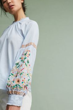 Fields Embroidered Pullover