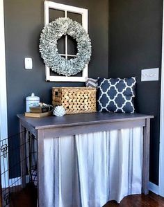 Decorate your dog crate to have it fit with your home style.