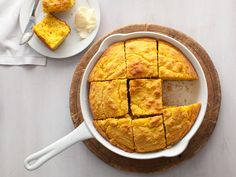 corn bread + creamed corn