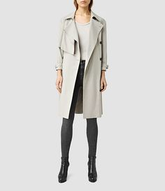 Womens Aike Yin Mac Coat (PEBBLEGREY) - product_image_alt_text_1