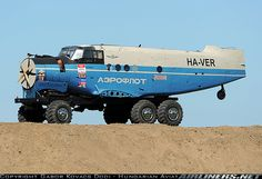 As they say, necessity is the mother of invention.  I've never seen a plane fuselage turned into a truck before...