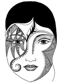 indian tribal masks coloring pages - photo#12