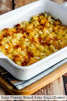Looking for healthy & filling Keto dinner recipe that meets your fat & protein needs? Get Keto Cauliflower recipes for dinner perfect for a ketogenic diet Cauliflower Casserole, Baked Cauliflower, Cauliflower Recipes, Side Dish Recipes, Keto Recipes, Cooking Recipes, Healthy Recipes, Low Carb Side Dishes, Recipes Dinner