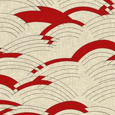 cloud lines linen red by Holli Zollinger