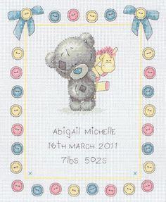 Button Birth Sampler (Tiny Tatty Teddy)