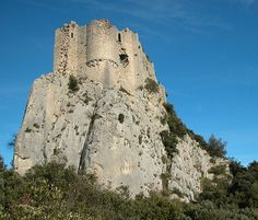 Abandoned Viviourès Castle, north of Montpellier, France